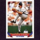 1993 Topps Baseball #717 Steve Farr - New York Yankees