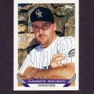 1993 Topps Baseball #681 Darren Holmes - Colorado Rockies