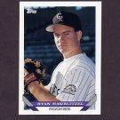 1993 Topps Baseball #648 Ryan Hawblitzel - Colorado Rockies