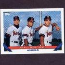 1993 Topps Baseball #633 Razgigaev / Puchkov / Bogatyrev - California Angels
