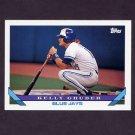 1993 Topps Baseball #628 Kelly Gruber - Toronto Blue Jays