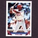 1993 Topps Baseball #585 Ricky Jordan - Philadelphia Phillies
