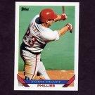 1993 Topps Baseball #479 Todd Pratt RC - Philadelphia Phillies