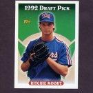 1993 Topps Baseball #438 Ritchie Moody RC - Texas Rangers