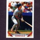 1993 Topps Baseball #428 Todd Zeile - St. Louis Cardinals