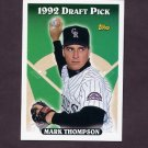 1993 Topps Baseball #419 Mark Thompson RC - Colorado Rockies