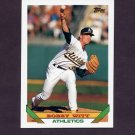 1993 Topps Baseball #398 Bobby Witt - Oakland A's
