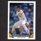 1993 Topps Baseball #343 Doug Henry - Milwaukee Brewers