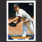 1993 Topps Baseball #320 Tim Fortugno - California Angels