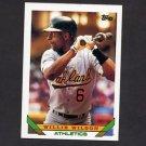 1993 Topps Baseball #318 Willie Wilson - Oakland A's