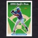 1993 Topps Baseball #269 Todd Steverson RC - Toronto Blue Jays