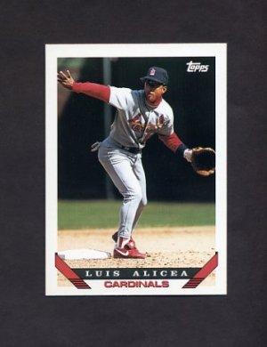 1993 Topps Baseball #257 Luis Alicea - St. Louis Cardinals