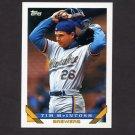 1993 Topps Baseball #234 Tim McIntosh - Milwaukee Brewers