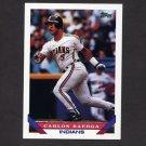 1993 Topps Baseball #221 Carlos Baerga - Cleveland Indians