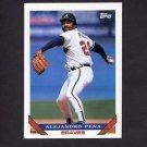 1993 Topps Baseball #198 Alejandro Pena - Atlanta Braves