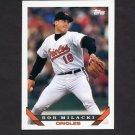 1993 Topps Baseball #192 Bob Milacki - Baltimore Orioles
