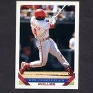 1993 Topps Baseball #154 Wes Chamberlain - Philadelphia Phillies