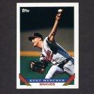 1993 Topps Baseball #144 Kent Mercker - Atlanta Braves