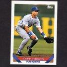 1993 Topps Baseball #143 Jeff Huson - Texas Rangers