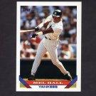 1993 Topps Baseball #114 Mel Hall - New York Yankees