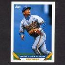 1993 Topps Baseball #097 Scott Fletcher - Milwaukee Brewers