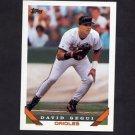 1993 Topps Baseball #082 David Sugui - Baltimore Orioles