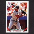 1993 Topps Baseball #067 Felix Jose - St. Louis Cardinals