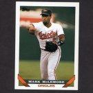 1993 Topps Baseball #055 Mark McLemore - Baltimore Orioles