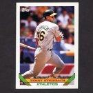 1993 Topps Baseball #018 Terry Steinbach - Oakland A's