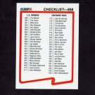 1990 Fleer Baseball #658 Checklist Card