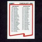1990 Fleer Baseball #656 Checklist Card