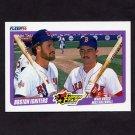 1990 Fleer Baseball #632 Wade Boggs / Mike Greenwell - Boston Red Sox