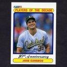 1990 Fleer Baseball #629 Jose Canseco - Oakland A's