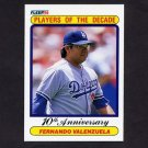 1990 Fleer Baseball #622 Fernando Valenzuela - Los Angeles Dodgers