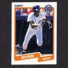 1990 Fleer Baseball #612 Gary Pettis - Detroit Tigers