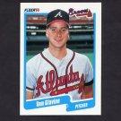 1990 Fleer Baseball #583 Tom Glavine - Atlanta Braves