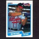 1990 Fleer Baseball #581 Darrell Evans - Atlanta Braves