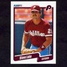 1990 Fleer Baseball #566 Steve Lake - Philadelphia Phillies