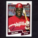 1990 Fleer Baseball #563 Ron Jones - Philadelphia Phillies