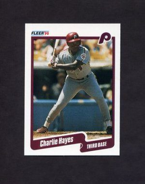 1990 Fleer Baseball #558 Charlie Hayes - Philadelphia Phillies