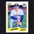 1990 Fleer Baseball #522 Jim Presley - Seattle Mariners