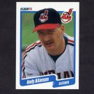 1990 Fleer Baseball #483 Andy Allanson - Cleveland Indians NM-M