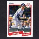 1990 Fleer Baseball #455 Steve Sax - New York Yankees