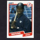1990 Fleer Baseball #446 Roberto Kelly - New York Yankees