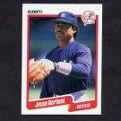 1990 Fleer Baseball #437 Jesse Barfield - New York Yankees