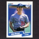 1990 Fleer Baseball #403 Mike Morgan - Los Angeles Dodgers
