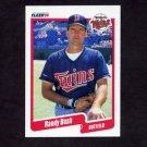 1990 Fleer Baseball #370 Randy Bush - Minnesota Twins