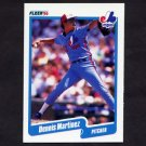1990 Fleer Baseball #354 Dennis Martinez - Montreal Expos