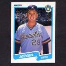 1990 Fleer Baseball #333 Jeff Peterek RC - Milwaukee Brewers