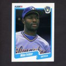 1990 Fleer Baseball #321 Mike Felder - Milwaukee Brewers NM-M